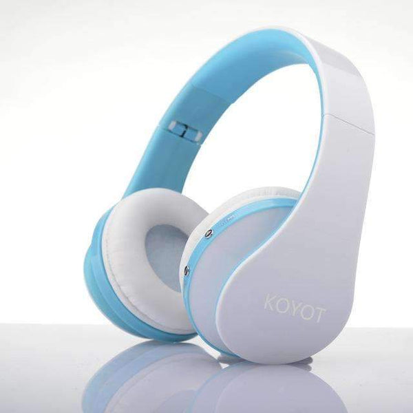 PinKart-USA Online Shopping Blue / China Koyot Bluetooth Headset Wireless Headphones Stereo Foldable Sport Earphone Microphone Headset