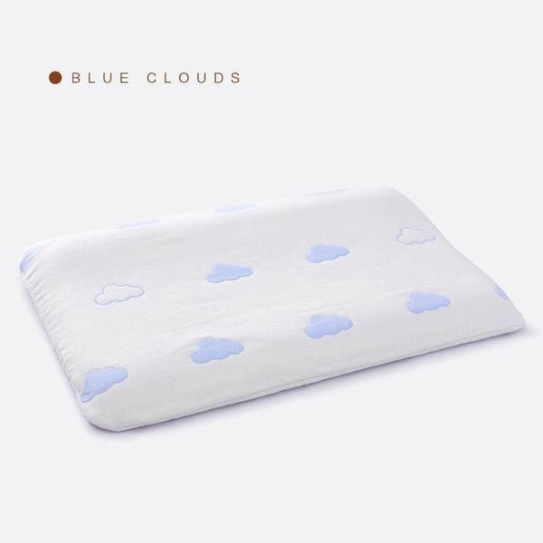 PINkart-USA Online Shopping Blue Cloud Slow Rebound Foam Memory Baby Pillow Healthy Orthopedic Neck Care Pillows Bedding Cervical Health
