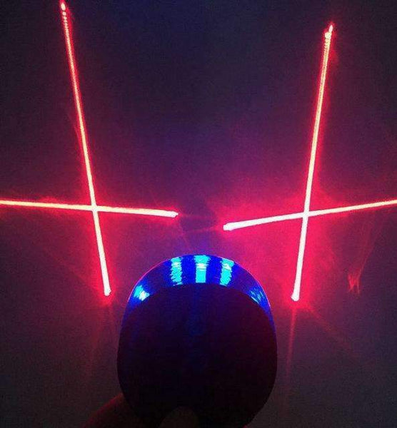 PinKart-USA Online Shopping blue cross lines 5 Led Laser Beam Mtb Mountain Bicycle Bike Rear Tail Warning Lamp Light
