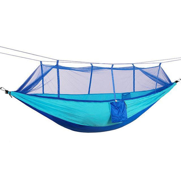 PINkart-USA Online Shopping blue deep blue / Russian Federation Portable High Strength Parachute Fabric Camping Hammock Hanging Bed With Mosquito Net Sleeping