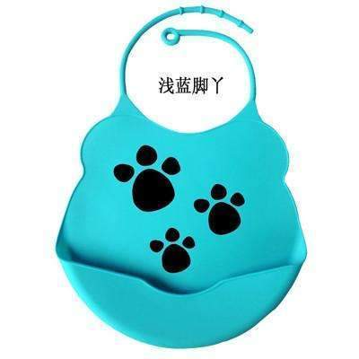 PinKart-USA Online Shopping blue foot / One Size Design Baby Bibs Waterproof Silicone Feeding Baby Salivatowel Wholesale Born Cartoon