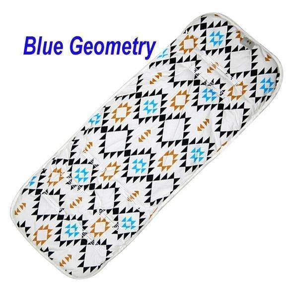 PinKart-USA Online Shopping Blue Geometry Fashion Baby Diaper Pad Cheap Baby Stroller Cushion Cotton Stroller Pad Seat Pad For Baby