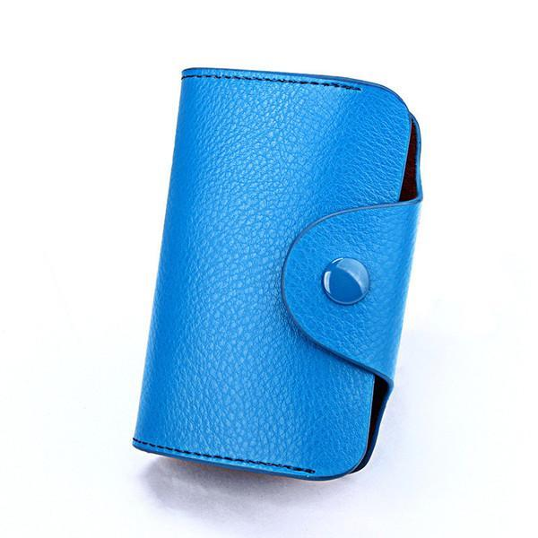 PINkart-USA Online Shopping Blue Hot Men Wallets Genuine Leather 15 Card Holder Wallet Male Clutch Pillow Designer Small Wallet