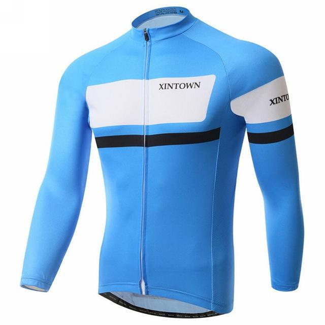 PINkart-USA Online Shopping Blue / L Autumn Men'S Pro Racing Cycling Jersey Long Sleeve Bicycle Cycling Clothing Sport Mtb Bike Jersey