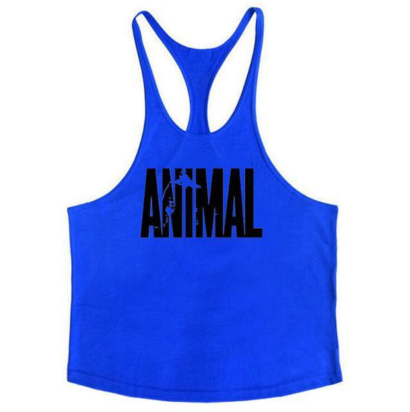 PINkart-USA Online Shopping Blue / L Brand Fitness Animal Gyms Tank Top Men Clothing Bodybuilding Stringer Men Sportwear Shirt Muscle