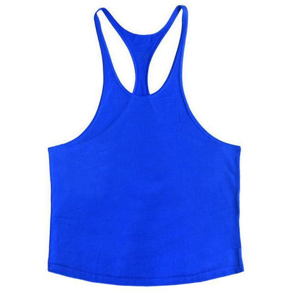 PINkart-USA Online Shopping Blue / L Brand Solid Clothing Bodybuilding Tank Top Mens Sleeveless Shirts Fitness Men Singlets Blank