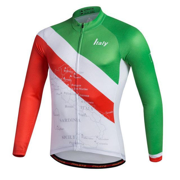 PINkart-USA Online Shopping Blue / L Breathable Pro Racing Cycling Jersey Roupa De Ciclismo Winter Long Sleeve Bicycle Cycling