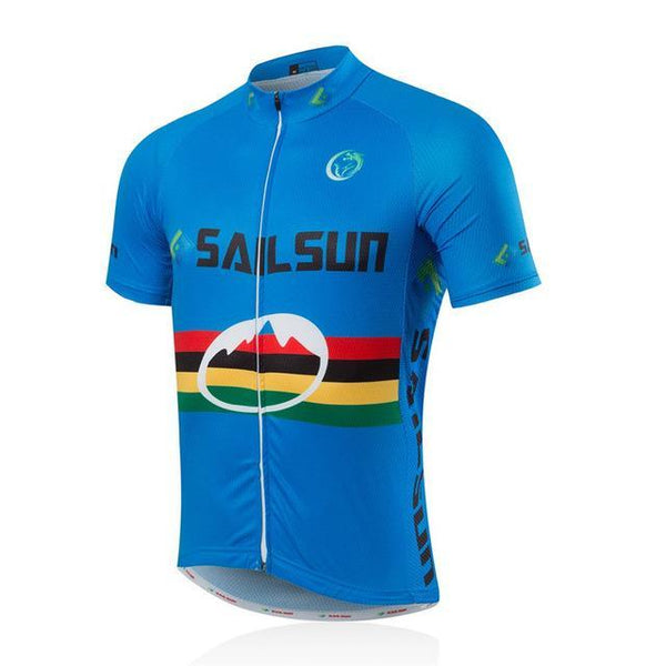 PINkart-USA Online Shopping Blue / L Sail Sun Team Racing Road Bike Cycling Jersey Breathable Cycling Clothing Ropa Ciclismo Bicycle