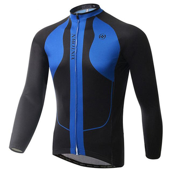 PINkart-USA Online Shopping Blue / L Winter Men'S Long Sleeve Cycling Jersey Team Racing Bike Jersey Pro Sports Bicycle Cycling