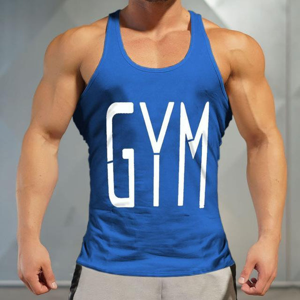 PINkart-USA Online Shopping blue / M Brand Gyms Tank Top Mens Sleeveless T Shirts Summer Cotton Slim Fit Men Clothing Bodybuilding