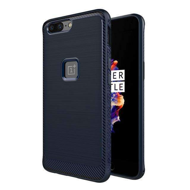 PinKart-USA Online Shopping Blue Oneplus 5 Case Luxury Black Silicone Soft Tpu Full Protection Case For Oneplus 5 360