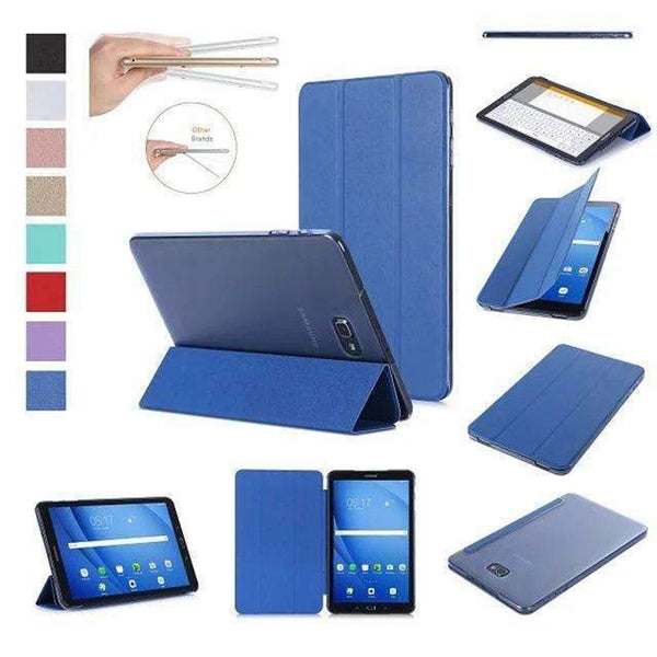 PinKart-USA Online Shopping Blue Original Case For Samsung Galaxy Tab A A6 10.1 T585 T580 Sm-T580 T580N Smart Case Cover Pu