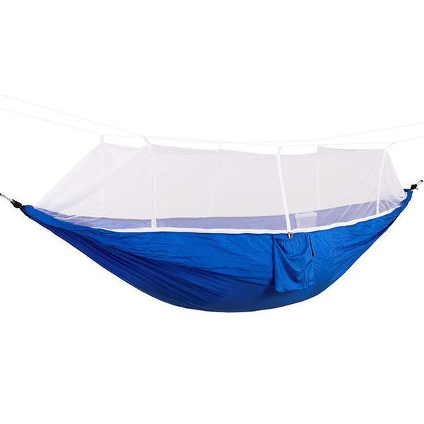 PINkart-USA Online Shopping blue / Russian Federation Portable High Strength Parachute Fabric Camping Hammock Hanging Bed With Mosquito Net Sleeping