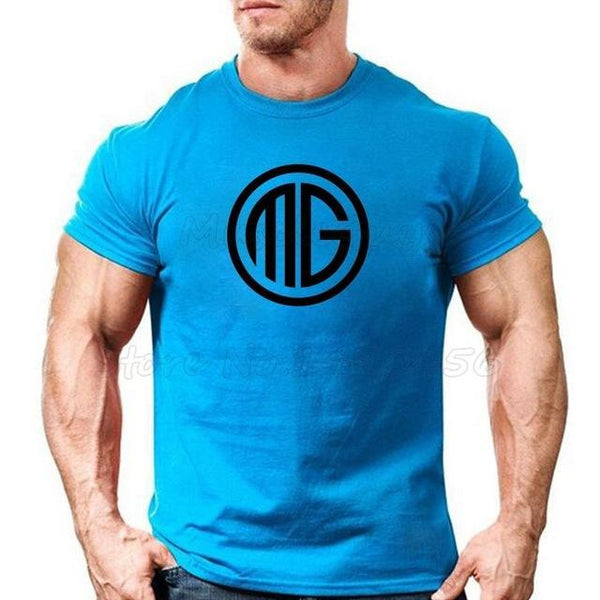 PINkart-USA Online Shopping Blue / S Muscle Guys Brand Clothing Fitness T Shirt Men Cotton O-Neck T-Shirt Muscle Bodybuilding Tees