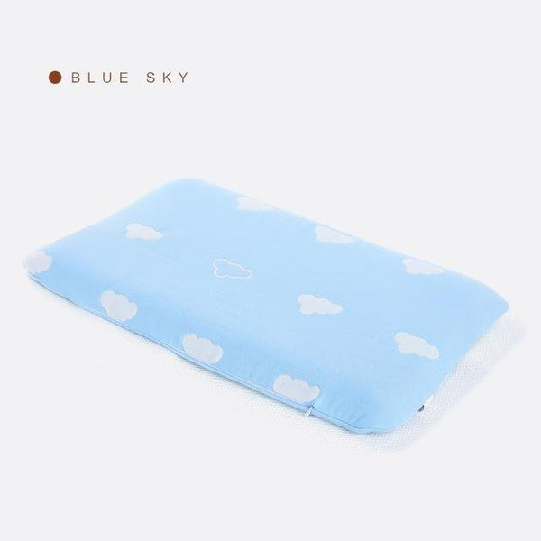 PINkart-USA Online Shopping Blue Sky Slow Rebound Foam Memory Baby Pillow Healthy Orthopedic Neck Care Pillows Bedding Cervical Health