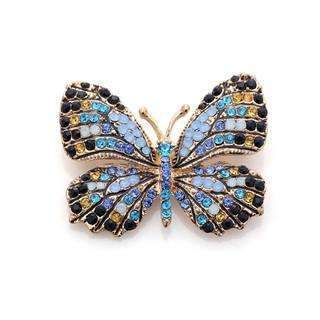 PinKart-USA Online Shopping Blue Stone Oneckoha Fashion Jewelry Colorful Rhinestone Butterfly Brooches Alloy Enameled Animal Brooch Pin