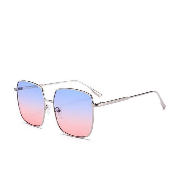 PINkart-USA Online Shopping Bluered Brand Designer Celebrity Metal Men Oversized Sunglasses Fashion Luxury Square Sunglasses Women