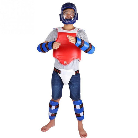 PINkart-USA Online Shopping Body Supports Set Unisex Taekwondo Groin Guard Arm Band Boxing Karate Crotch Protector Braces