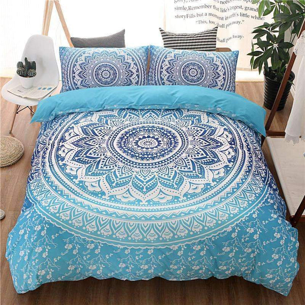PinKart-USA Online Shopping Bohemian Bedding Sets Mandala Printing Black White Boho Single Double Queen King Size Duvet Cover