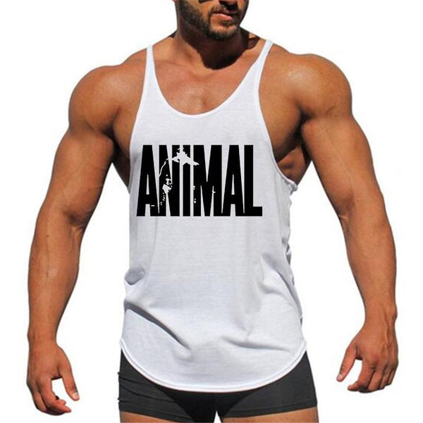 PINkart-USA Online Shopping Brand Fitness Animal Gyms Tank Top Men Clothing Bodybuilding Stringer Men Sportwear Shirt Muscle