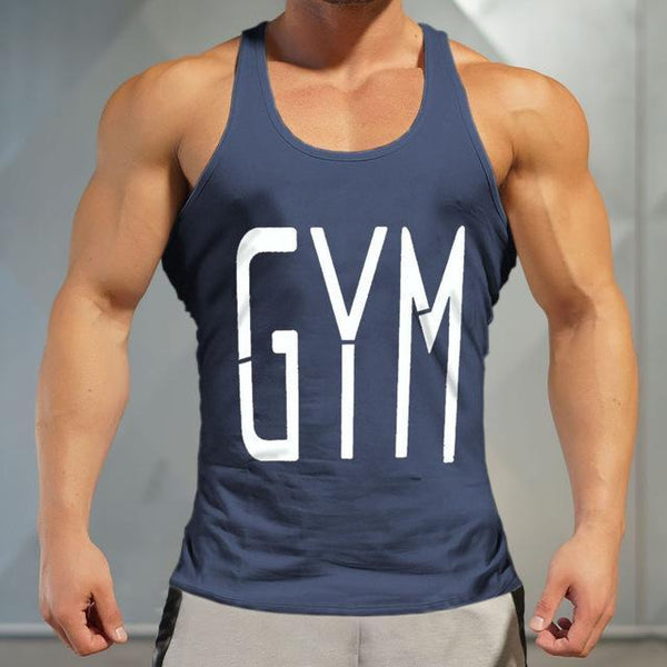 PINkart-USA Online Shopping Brand Gyms Tank Top Mens Sleeveless T Shirts Summer Cotton Slim Fit Men Clothing Bodybuilding