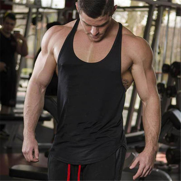 PINkart-USA Online Shopping Brand Solid Clothing Bodybuilding Tank Top Mens Sleeveless Shirts Fitness Men Singlets Blank