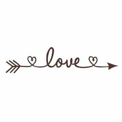 PINkart-USA Online Shopping brown / 30x130cm Design Love Arrow Removable Vinyl Wall Stickers Wall Art Decal Kids' Room Wallpaper Above Bed Mural