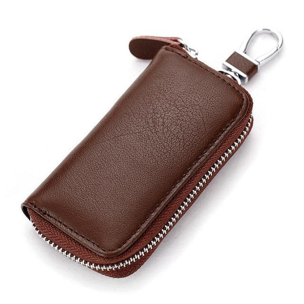 PINkart-USA Online Shopping Brown Genuine Cow Leather Men & Women Car Key Bag Wallet Multi Function Key Case Fashion Housekeeper
