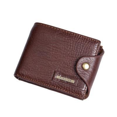 PINkart-USA Online Shopping Brown Genuine Leather Brand Men Wallets Design Short Small Wallets Male Mens Purses Card Holder