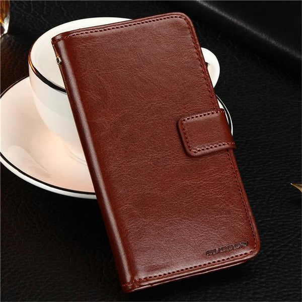 PinKart-USA Online Shopping Brown Gucoon Vintage Wallet Case For Zopo Speed 7 Plus Zp952 5.2Inch Pu Leather Retro Flip Cover