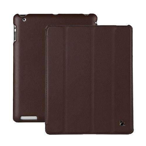 PinKart-USA Online Shopping Brown Jisoncase Brand Case For Ipad 2 3 4 Leather Case Pu Protective Smart Cover Case For Ipad 2 3 4