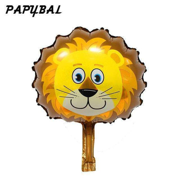 PinKart-USA Online Shopping Brown / Mnini Size 50Pcs Safari Animal Balloons Birthday Party Decoration Lion & Monkey & Zebra & Cow Head Safari Zoo