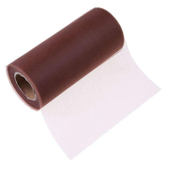 PinKart-USA Online Shopping Brown Tissue Tulle Roll 15Cm 26Yards Spool Tutu Gift Wrap Wedding Decoration Birthday Party Baby Shower