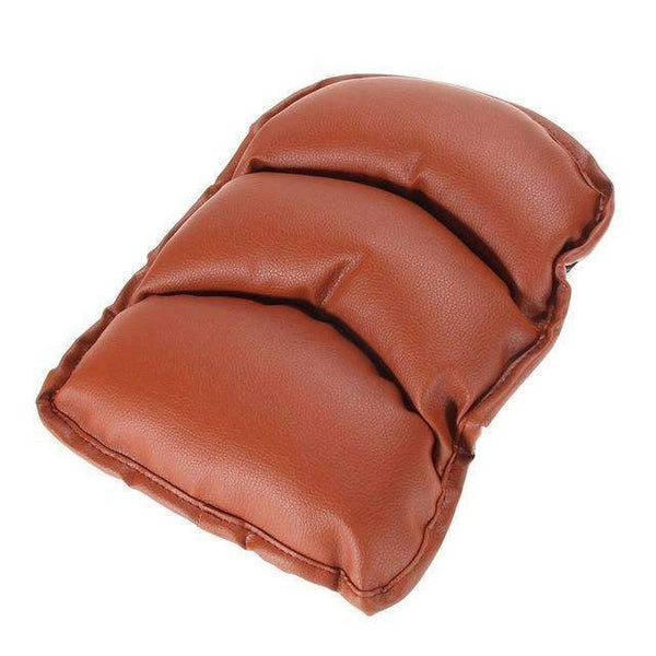 PinKart-USA Online Shopping Brown Universal Car Seat Cover Soft Leather Auto Center Armrest Console Box Armrest Seat Protective Pad