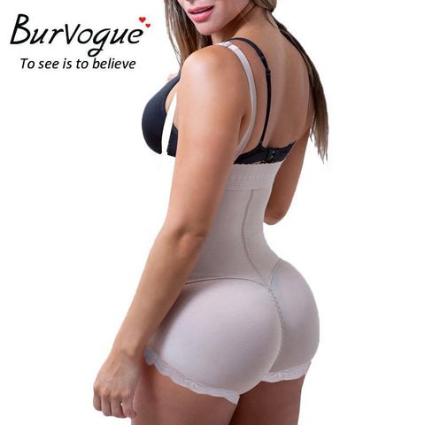 PINkart-USA Online Shopping Burvogue Hot Latex Body Shaper Plus Size Tummy Control Underwear Clip And Zip Bodysuit Vest Slim