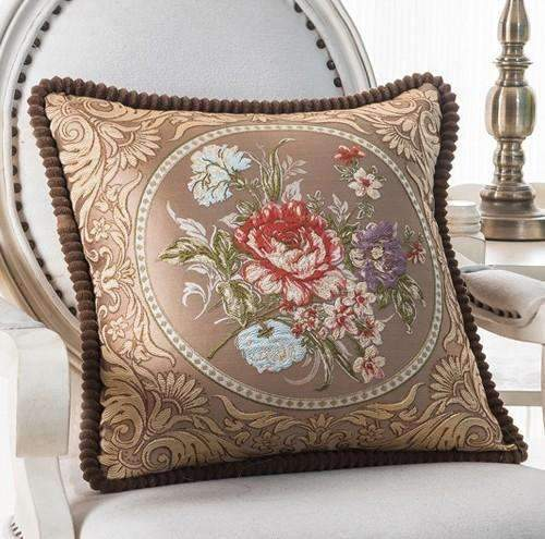 PinKart-USA Online Shopping C / 45x45m only cover Luxurious Embroidery Velour Home Decor Cushion Decoration Lace Pillow / European Velvet Sofa