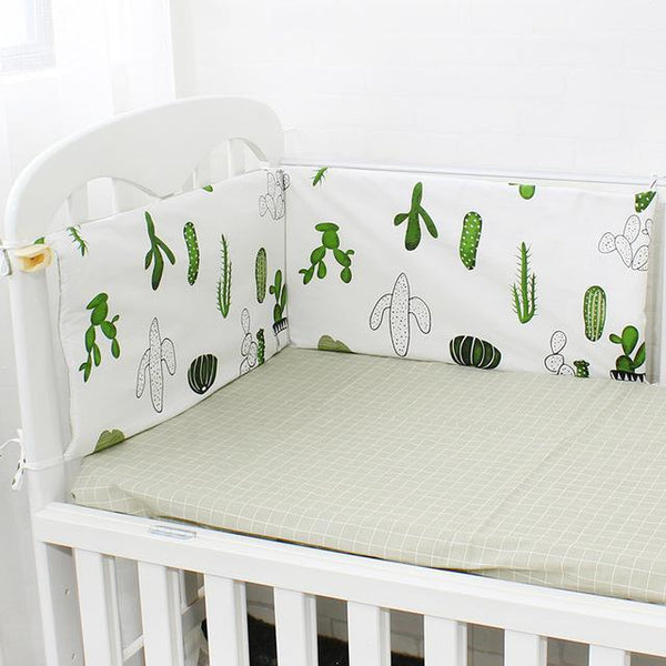 PINkart-USA Online Shopping Cactus 1 Pcs Baby Bed Bumper Soft Breathable Cartoon Pattern Baby Crib Protector For Children Croth To The Cot