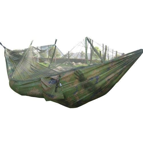 PINkart-USA Online Shopping Camo Portable Outdoor Hammock For 2 People Garden Hanging Bed Army Green/Camo Outdoor Camping Hunting