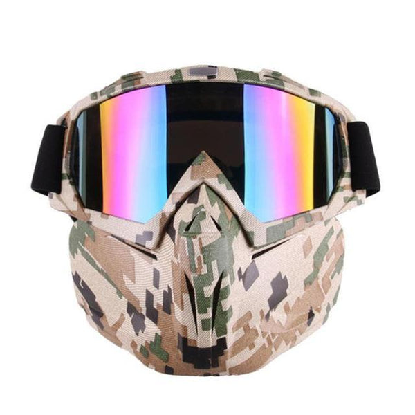 PINkart-USA Online Shopping Camouflage Men Women Windproof Snowboard Goggles Ski Glasses Motocross Glass Skiing Goggles Face Mask