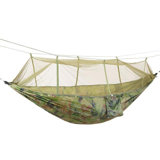 PINkart-USA Online Shopping Camouflage / Russian Federation Portable High Strength Parachute Fabric Camping Hammock Hanging Bed With Mosquito Net Sleeping