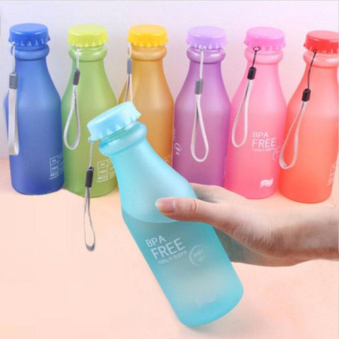 PINkart-USA Online Shopping Candy Colors Unbreakable Frosted Leak-Proof Plastic Kettle 550Ml Bpa Free Portable Water Bottle For