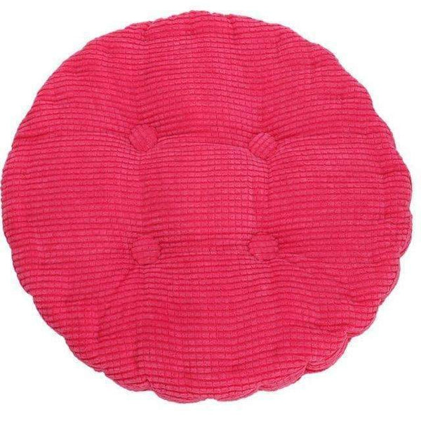PinKart-USA Online Shopping Carmine 1Pc 36*38Cm Round Shape Plaid Chair Pad Cushion Thicker Soft Washable Cotton Colorful Home Decor