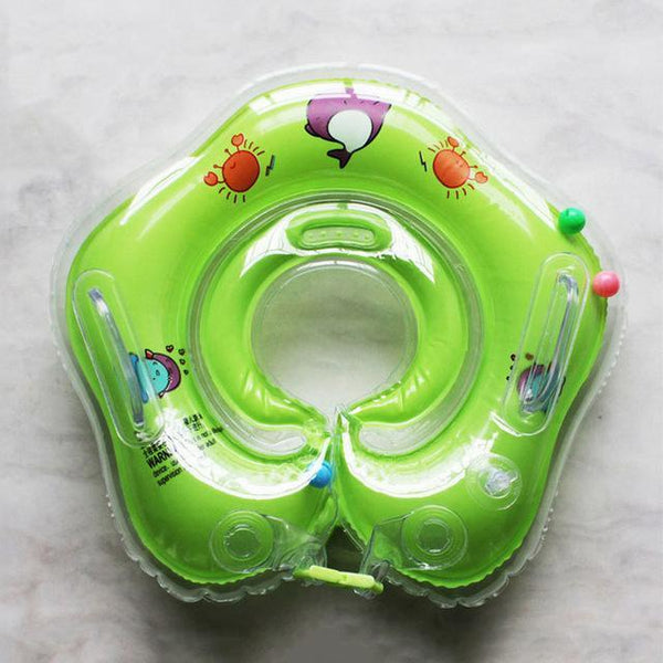 PINkart-USA Online Shopping cartoon green Swimming Baby Accessories Swim Neck Ring Baby Tube Ring Safety Infant Neck Float Circle For