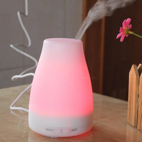 PINkart-USA Online Shopping China / AU Ultrasonic Humidifier Aromatherapy Oil Diffuser Cool Mist With Color LED Lights Essential Oil