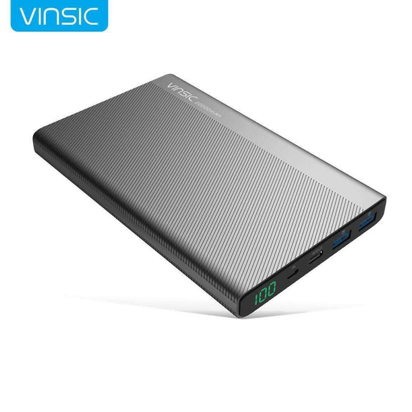 PinKart-USA Online Shopping China / Power Bank Vinsic 20000Mah Power Bank Dual 2.4A Usb Type-C Led Dispaly Portable External Battery Charger For