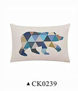 PinKart-USA Online Shopping CK0239 / 45x45cm cushion Deer Animals Print Home Decorative Cushion Pillow Room Decors Car Throw Cushion For Seat ,Car ,Sofa
