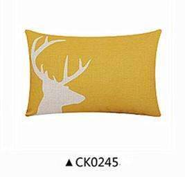 PinKart-USA Online Shopping CK0245 / 45x45cm cushion Deer Animals Print Home Decorative Cushion Pillow Room Decors Car Throw Cushion For Seat ,Car ,Sofa