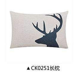 PinKart-USA Online Shopping CK0251 / 45x45cm cushion Deer Animals Print Home Decorative Cushion Pillow Room Decors Car Throw Cushion For Seat ,Car ,Sofa