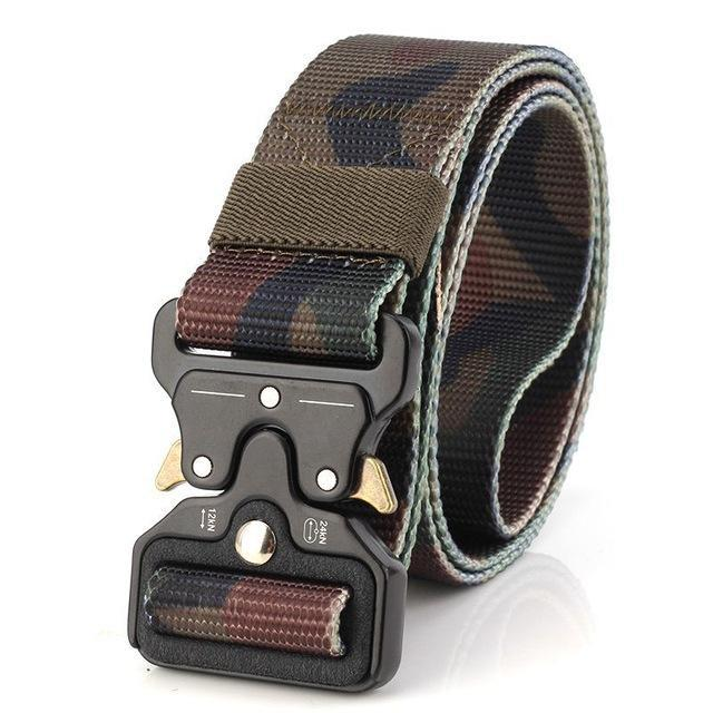 PINkart-USA Online Shopping Classic Camo / 125cm Ping Mens Tactical Belt Military Nylon Belt Outdoor Multifunctional Training Belt Combat Belts