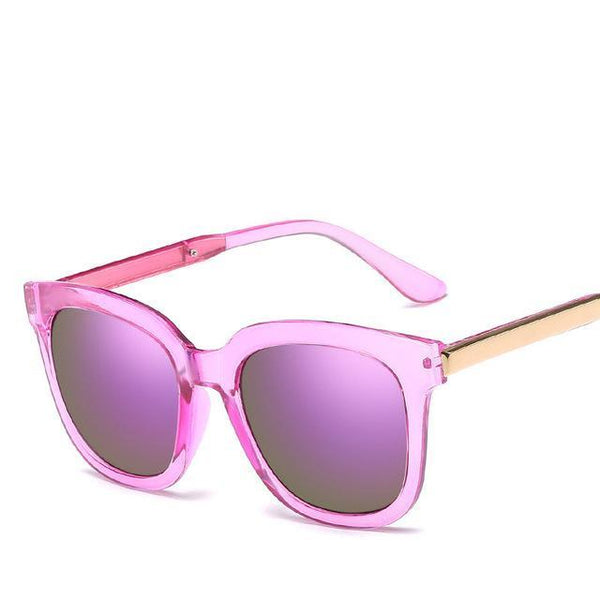 PINkart-USA Online Shopping Clear Purple Trendy Vintage Sunglasses Women Men Uv400 Black Mirror Coating Sun Glasses Retro Hipster Goggles
